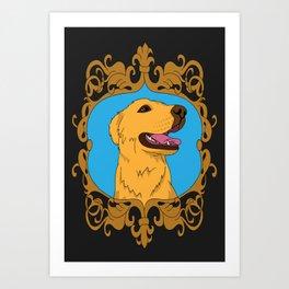 Olliver the Golden Retriever Mix Art Print
