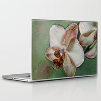 orchid Laptop & iPad Skins featuring Orchid by LoRo  Art & Pictures