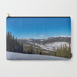 white to blue Carry-All Pouch