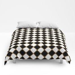 Geometric ornament gold seamless pattern Comforters