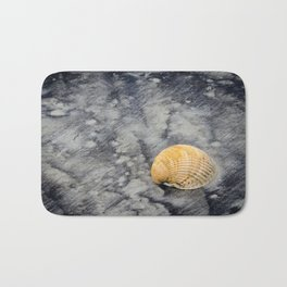 Black Sands and Seashell on the Shore Coastal / Nature Photograph Bath Mat