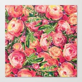 Pretty Peonies Canvas Print