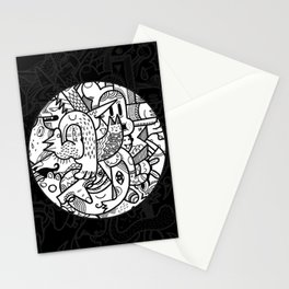 Creature Comforts Dark (Faded) Stationery Cards