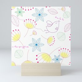 In The Springtime,Tra La La Mini Art Print