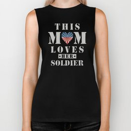 US Army Mom Gift For Patriotic Mothers With A Son In Service Or Military Wifes Veterans Biker Tank