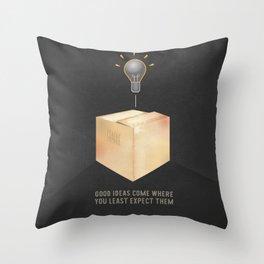 Good ideas – black Throw Pillow
