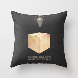 Good ideas – black Throw Pillow