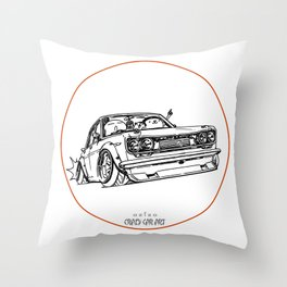 Crazy Car Art 0120 Throw Pillow