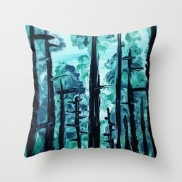 Giants Of The Canopy Throw Pillow
