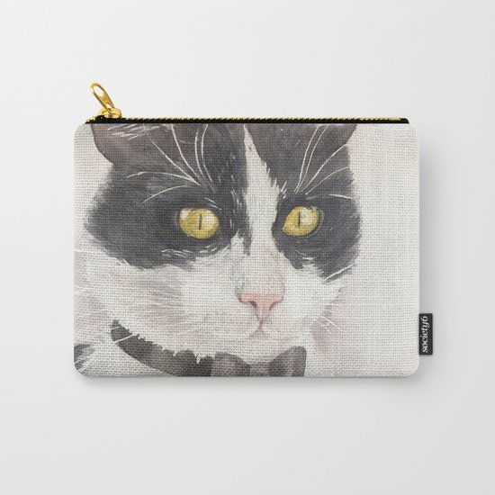 Tuxedo cat Carry-All Pouch