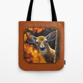 Whitetail Deer Face Tote Bag