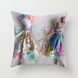 Rainbow Unicorn Doll Throw Pillow