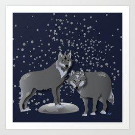 Wolves - 'A Fantastic Journey' Art Print
