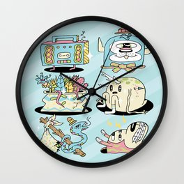 The Gangs all Here Wall Clock