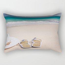 beach sandels Rectangular Pillow