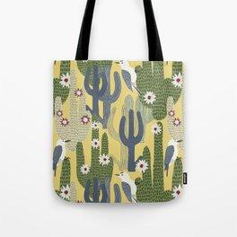 Cactus Wrens Tote Bag