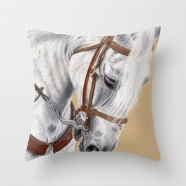 Horse Portrait 01 Throw Pillow