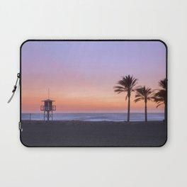 Serenity beach. Palms at the beach. Laptop Sleeve