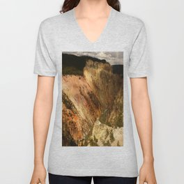 Yellow Rocks Of The Yellowstone Valley Unisex V-Neck