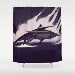 The Darth Knight Shower Curtain