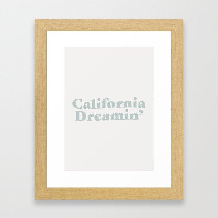 California Dreaming - Blue Framed Art Print