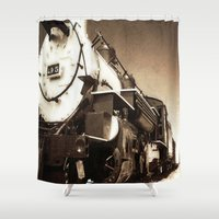 train Shower Curtains featuring Train by SteeleCat