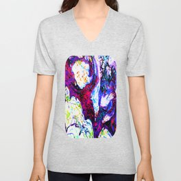 Fluid Abstract 38; Wandering Unisex V-Neck