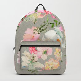 Floral Art Floral Vale Pewter Backpack