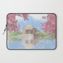 Cherry Blossom - Jefferson Memorial Laptop Sleeve