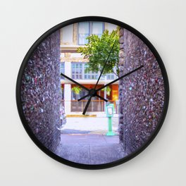 Emergency Exit Bubblegum Alley San Luis Obispo Wall Clock