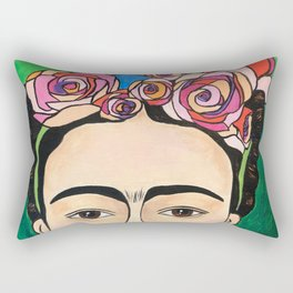 Frida Khalo Portrait Rectangular Pillow
