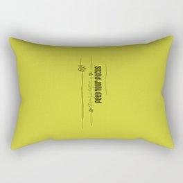 Feed Your Focus Rectangular Pillow