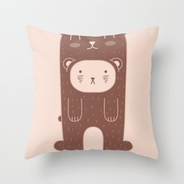 WILD + BEAR print Throw Pillow