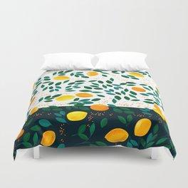 Lemon Orange Duvet Cover