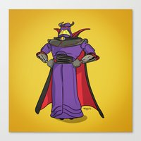 toy story Canvas Prints featuring Toy Story | Emperor Zurg by Brave Tiger Designs