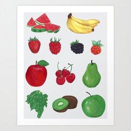 YUMMIE, FRUIT Art Print