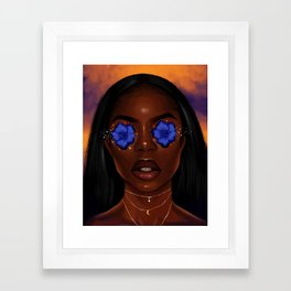 Mama was born in the 70s Framed Art Print