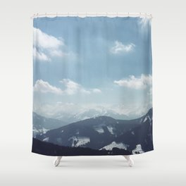 The alps 1 Shower Curtain