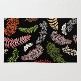 Dark Autumn Pattern, Fall Rug