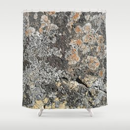 Lichen on the granite rock Shower Curtain