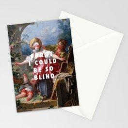 Jean-Honoré Fragonard, Blind-Man's Buff (1750 - 1752) / Halsey, Sorry (2017) Stationery Cards