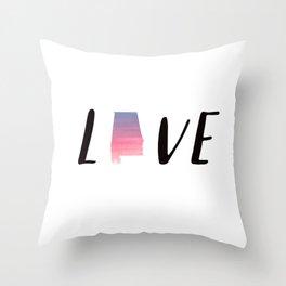 Alabama Love - Sunset Watercolor State Throw Pillow