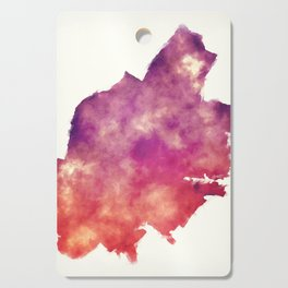 Jersey New Jersey city watercolor map in front of a white background Cutting Board