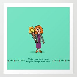 Mrs Parker and the Lamp Art Print