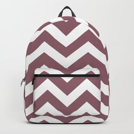 Raspberry glace - violet color -  Zigzag Chevron Pattern Backpack