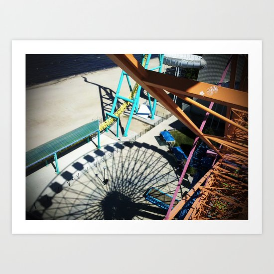 Ferris Wheel in Shadow Art Print