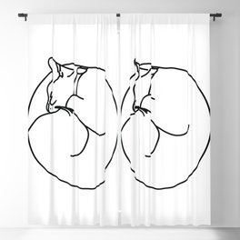 Sleeping Cat Blackout Curtain