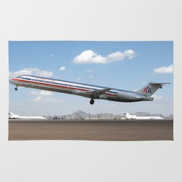 American Airlines MD-80 takeoff Rug