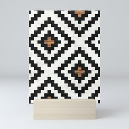 Urban Tribal Pattern No.16 - Aztec - Concrete and Wood Mini Art Print
