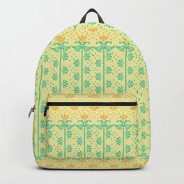 Vintage Art Deco floral pattern Backpack